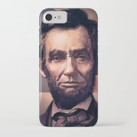 lincoln iPhone & iPod Cases featuring Lincoln by Dominick Saponaro