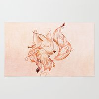 fox Area & Throw Rugs featuring Fox  by LouJah