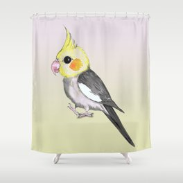 Very cute cockatiel Shower Curtain