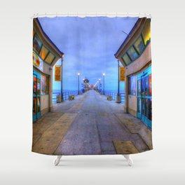 Before Dawn  * Huntington Beach Pier Shower Curtain
