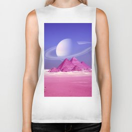 Pyramids, Saturn & the Desert Biker Tank