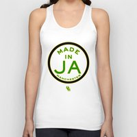 jamaica Tank Tops featuring Made in Manchester-Jamaica by DCMBR - December Creative Group