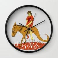 voyage Wall Clocks featuring Voyage by Skinny Gaviar