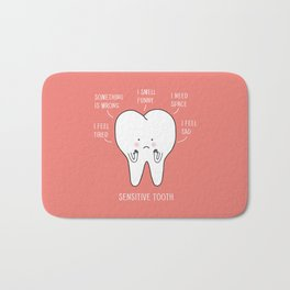 sensitive tooth Bath Mat