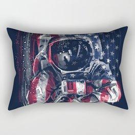 Astronaut Flag Rectangular Pillow