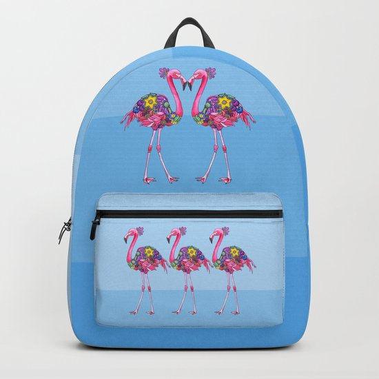 A Small Flock of Flamingos Backpack