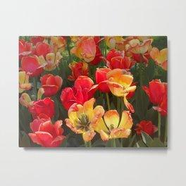 Theory of Tulips Metal Print