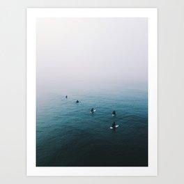 Fog Surf Crew   California Art Print