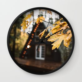 A-Frame Cabin in the Woods Wall Clock