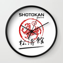 Shotokan Karate Tiger Wall Clock