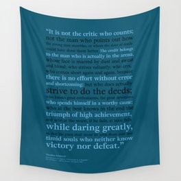 It's Not the Critic That Counts / Blue Wall Tapestry