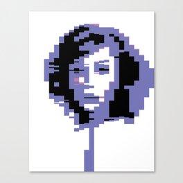 8 Bit Portrait of a Girl Canvas Print