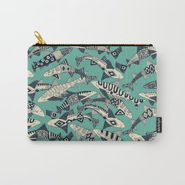 shark party jade Carry-All Pouch