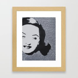Bette Davis All About Eve American Film Fasten your seat belts hollywood star Framed Art Print