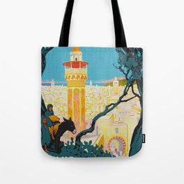 Tunis Tunisia - Vintage Africa Travel Poster Tote Bag
