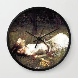OPHELIA - JOHN WILLIAM WATERHOUSE Wall Clock