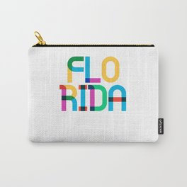 Florida State Mid Century, Pop Art Mondrian Carry-All Pouch