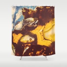 Amber Honey Agate Shower Curtain