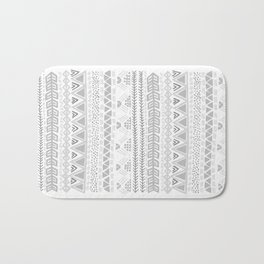 Grey aztec pattern Bath Mat
