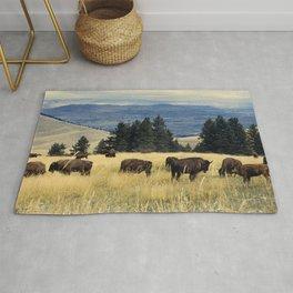 National Parks Bison Herd Rug