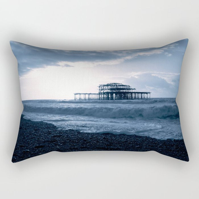 Old Pier Rectangular Pillow