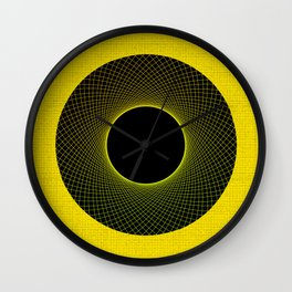 Vortex Yellow Modern Circular Pattern Design Wall Clock