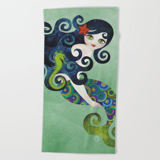 Aquamarine Mermaid Beach Towel