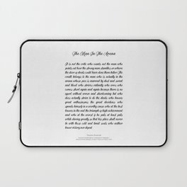 The Man In The Arena by Theodore Roosevelt Laptop Sleeve