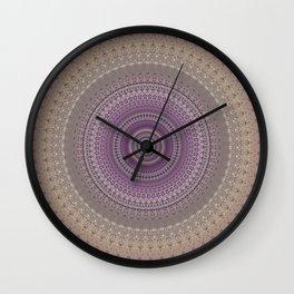 Elegant Lavender Mandala Wall Clock