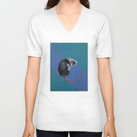 mouse V-neck T-shirts featuring Mouse by Michael Creese