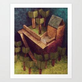 Forest House Art Print
