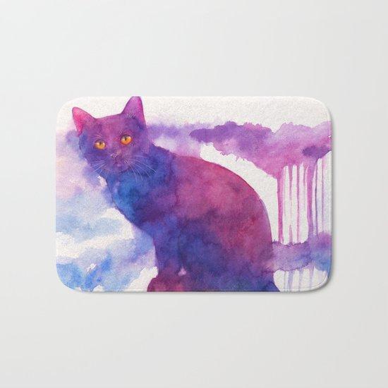 Halloween cat Bath Mat