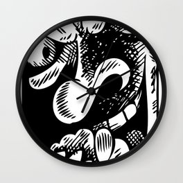 The face of Evil Wall Clock