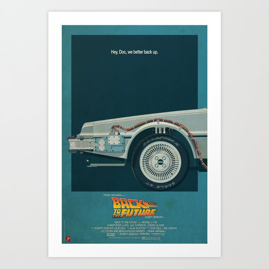 DeLorean Time Machine, Back to the Future Version 2 I/III Art Print