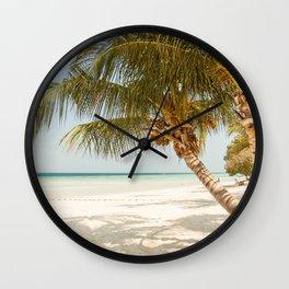 Palm Tree Paradise III Wall Clock