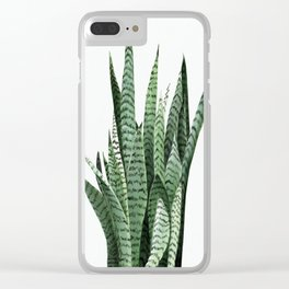 Snake Plant (Sansevieria laurentii) Art Print. Botanical Wall Art. Original acrylic painting by Anne Clear iPhone Case