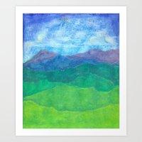 Blue Ridge Twilight Art Print