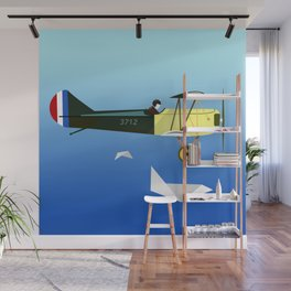 Curtiss Jenny JN 4D pioneer of flight Ameli Lost poster vintage aircraft sky and clouds air picture Wall Mural
