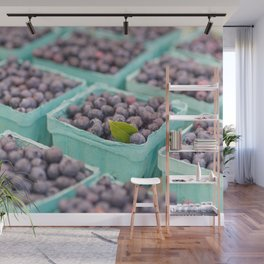 Blueberries at the market Wall Mural