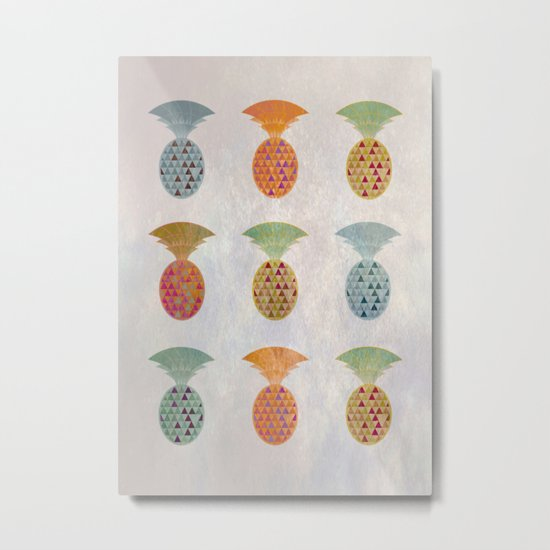 Ananas Jewels Metal Print
