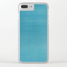Hand painted DW-M Blue T. color Clear iPhone Case