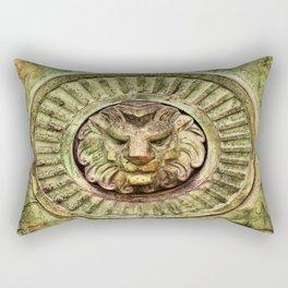 Mausoleum Lion Rectangular Pillow