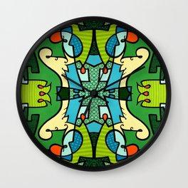 Vert A Go-Go Wall Clock