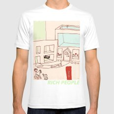 Rich People Mens Fitted Tee White MEDIUM