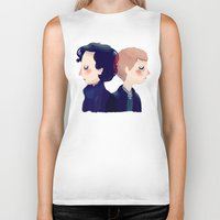 221b Biker Tanks featuring 221B by Nan Lawson