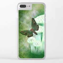Mossy Moths Clear iPhone Case