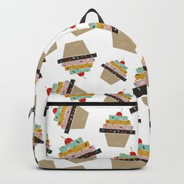 Cupcake eating ice cream Backpack
