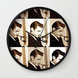 Jazz Heroes Series - Chet Báker Wall Clock