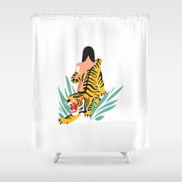 Waking the tiger Shower Curtain