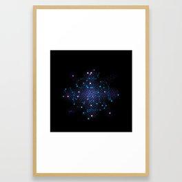 Mosaic Cross Framed Art Print